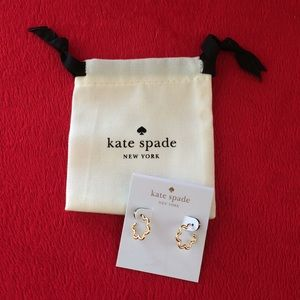 Kate Spade Scrunched Scallops Mini Hoops